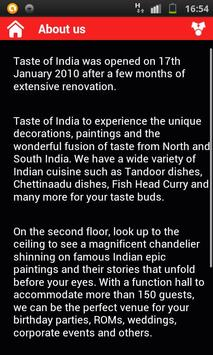 Taste of India apk screenshot