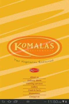 Komala's Restaurants apk screenshot