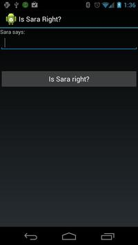 Is Sara Right? poster