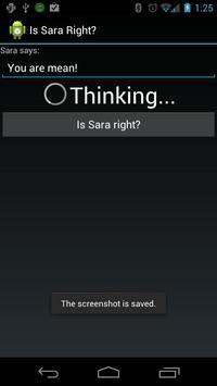 Is Sara Right? apk screenshot