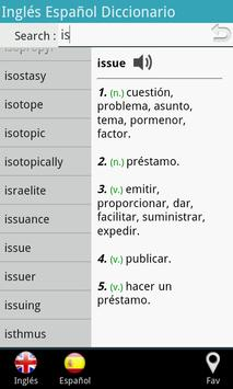 Spanish English Dictionary poster