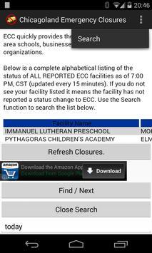 Chicagoland Facility Closures apk screenshot