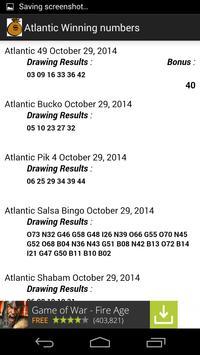 Check Atlantic Lotto Numbers apk screenshot