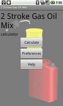 2 Stroke Gas Oil Mix Calc poster