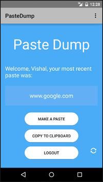 Paste Dump apk screenshot