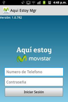 Aquí Estoy Movistar Manager poster