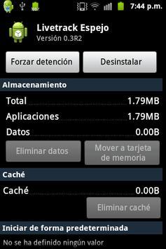 Livetrack Espejo apk screenshot