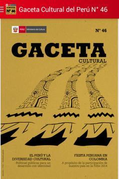 Gaceta Cultural del Perú N° 46 poster