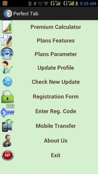 Perfect Tab Lic Agent Software apk screenshot