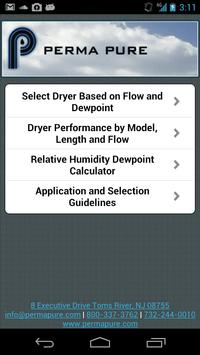 Perma Pure Dryer Sizing App poster