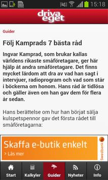 Driva Eget - Kalkyl apk screenshot