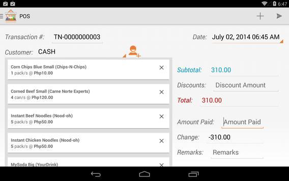Tienda Free Inventory & POS apk screenshot
