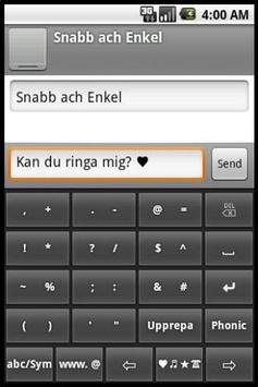 Phonic Keyboard Swedish apk screenshot