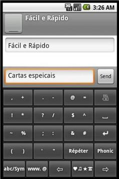 Phonic Keyboard Portuguese apk screenshot