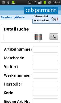 Elspermann Online System apk screenshot