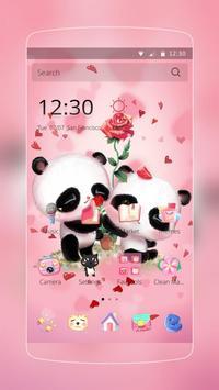 Pink Panda Love poster