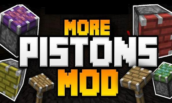 Pistons Mod for Minecraft PE poster