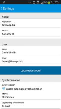 TimeApp.biz apk screenshot