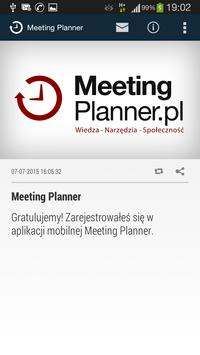 Meeting Planner poster