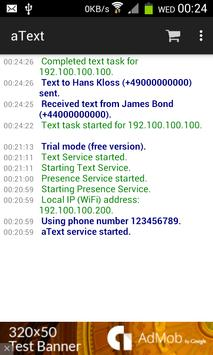 aText: SMS Messaging from PC poster