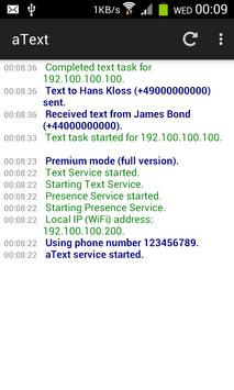 aText: SMS Messaging from PC apk screenshot