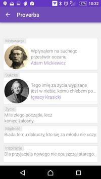 Polish Proverbs apk screenshot