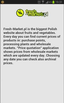 Poland fruit prices apk screenshot