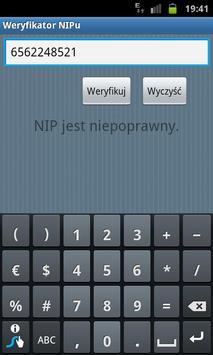 Weryfikator NIP apk screenshot