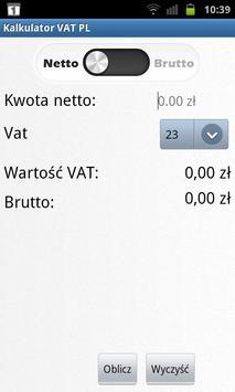 Kalkulator Netto/Brutto poster