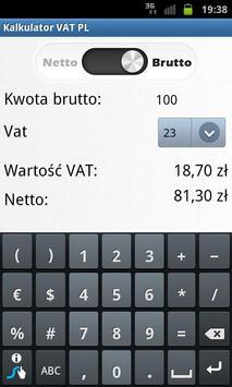 Kalkulator Netto/Brutto apk screenshot