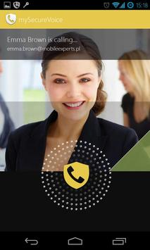 my Secure Voice - safe calls poster