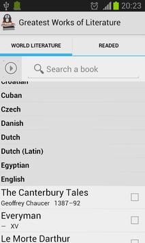 Greatest Works of Literature apk screenshot