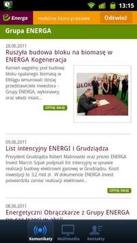 Grupa ENERGA – biuro prasowe poster