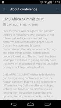 CMS AFRICA SUMMIT apk screenshot