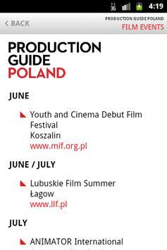 Production Guide Poland apk screenshot