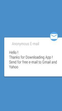 Wyślij Anonimowy Email Znajomy apk screenshot