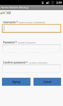 Home Sync Backup phone contact apk screenshot