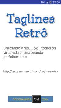 Taglines Retrô poster