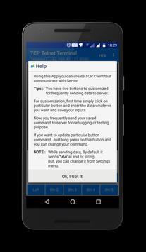 TCP Telnet Terminal apk screenshot