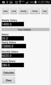 Basic Salary Calculator apk screenshot