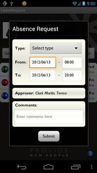 LeaveRequest for SAP apk screenshot