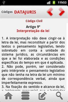 Código Civil Português apk screenshot