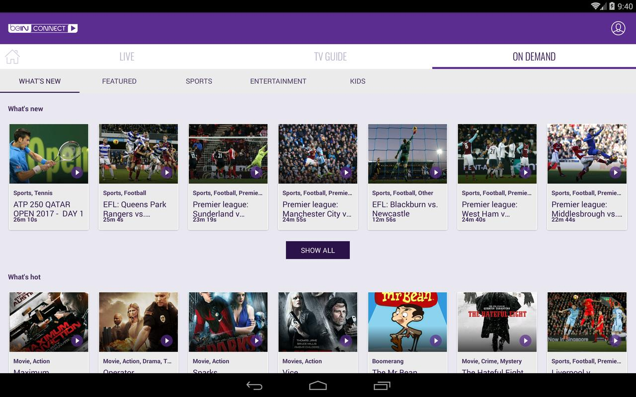 how to get free bein sports