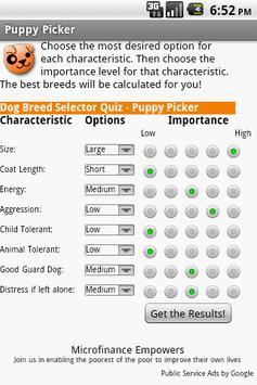 Puppy Picker - Dog Breed Quiz poster
