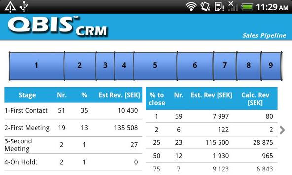 QBIS CRM Android apk screenshot