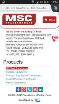 MSC TRANSFORMERS PVT LTD apk screenshot