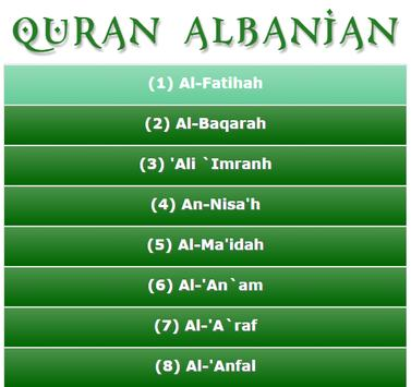 Quran Albanian poster