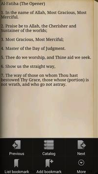 The Quran apk screenshot