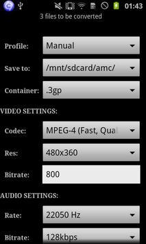ARMV7 VFP VidCon Codec apk screenshot