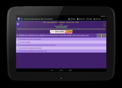 TESTS QIR QUÍMICOS RESIDENTES apk screenshot